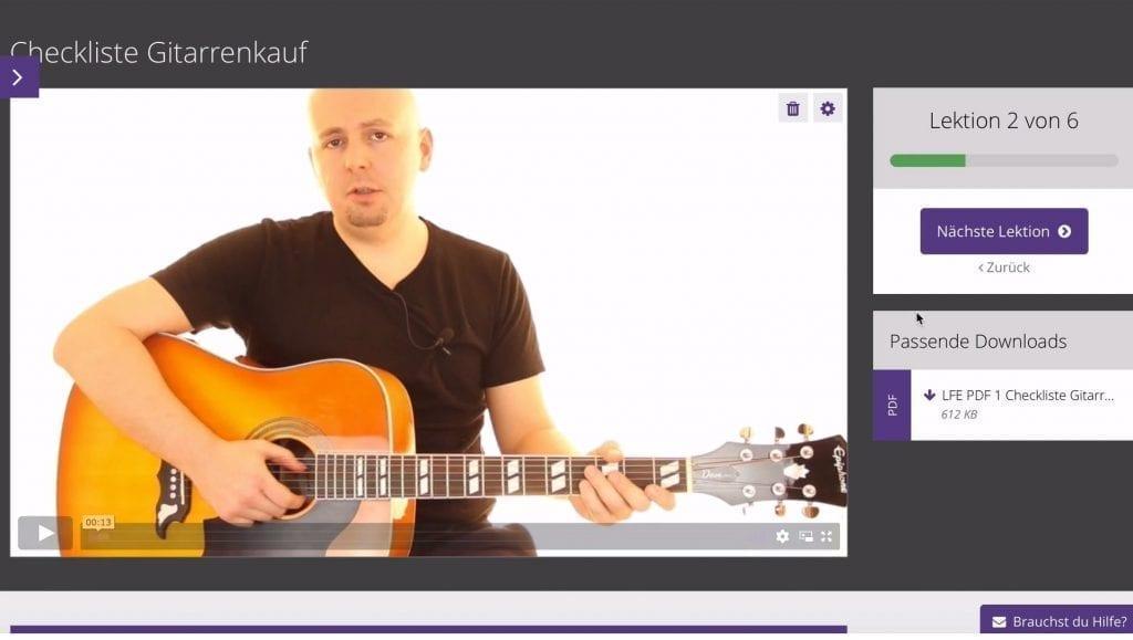 Gitarrenvideounterricht Videolektion